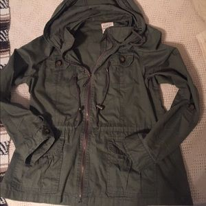 Jackets & Blazers - Olive utility coat